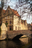 Stad av Bruges Arkivfoton