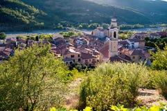 Stad av Cabella Ligure, Italien Royaltyfria Foton