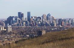 Stad av Calgary Alberta Canada Downtown Skyline Cityscape arkivfoton
