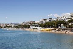 Stad av Cannes i Frankrike Arkivfoto