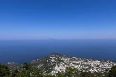 Stad av Capri, Capri ö, Italien Arkivfoton