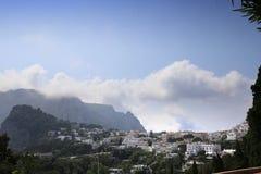 Stad av Capri, Capri ö, Italien Arkivfoto