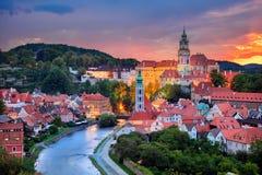 Stad av Cesky Krumlov Royaltyfri Bild