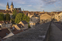 Stad av Chaumont, Frankrike Arkivfoton