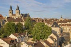 Stad av Chaumont, Frankrike Arkivbilder