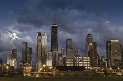 Stad av Chicago horisont Royaltyfria Foton