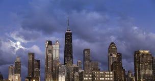 Stad av Chicago horisont Fotografering för Bildbyråer