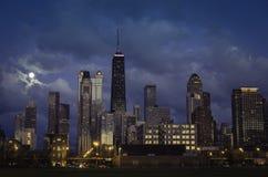 Stad av Chicago horisont Royaltyfri Foto