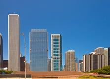 Stad av Chicago USA, panorama av centret Arkivfoton