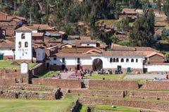 Stad av Chinchero Peru Arkivfoton