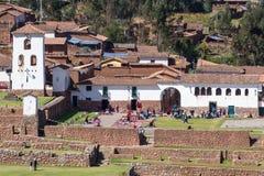 Stad av Chinchero Peru Royaltyfri Foto