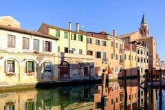 Stad av Chioggia, den lilla Venedig Royaltyfria Bilder