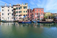 Stad av Chioggia, den lilla Venedig Royaltyfria Foton