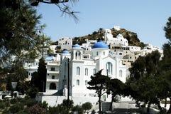 Stad av Chora, Ios-ö, Grekland arkivfoto