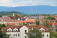 Stad av Cieszyn royaltyfri fotografi