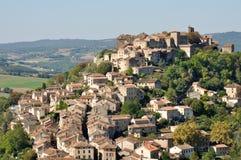Stad av Cordes-sur-Ciel, Frankrike Royaltyfria Foton