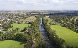 Stad av Cowra, Australien arkivfoton