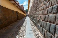 Stad av Cuzco i Peru arkivbild