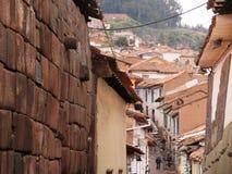 Stad av Cuzco i Peru arkivfoton