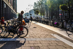 Stad av cyklar Arkivfoton