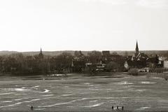Stad av Dömitz royaltyfri foto