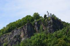 Stad av Decin, Pastyrska stena, Tjeckien Arkivfoton