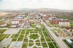 Stad av den Grozny sikten från över Arkivfoto
