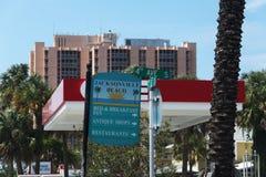 Stad av den jacksonville stranden i florida royaltyfri bild