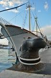 Stad av den kluvna hamnen på Adriatiskt havet i Kroatien, Dalmatia region, gammal stad i bakgrunden Royaltyfria Foton