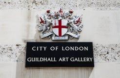 Stad av den London guildhallen Art Gallery Arkivbilder