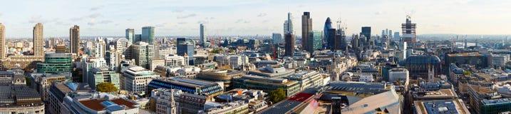 Stad av den London panoramat Arkivfoton