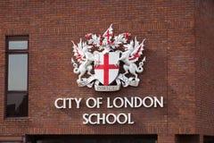 Stad av den London skolan fotografering för bildbyråer
