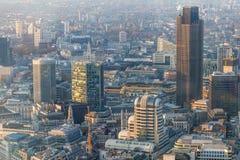 Stad av den London solnedgången Fotografering för Bildbyråer