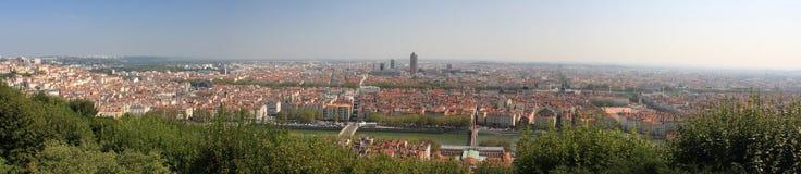 Stad av den Lyon panoramat Royaltyfri Foto