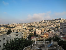 Stad av den Nazareth panoramautsikten, Israel Royaltyfria Bilder