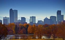 Stad av Denver Skyline royaltyfri bild