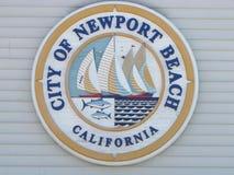 Stad av det Newport strandtecknet royaltyfria bilder