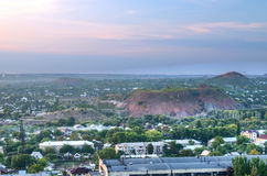 Stad av Donetsk, Ukraina royaltyfri foto