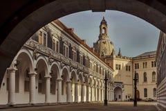 Stad av Dresden saxony germany Mitt av den gamla staden fotografering för bildbyråer