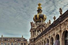 Stad av Dresden saxony germany Mitt av den gamla staden arkivbilder