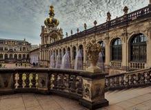 Stad av Dresden saxony germany Mitt av den gamla staden royaltyfri fotografi