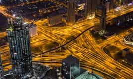 Stad av Dubai från Burj Khalifa Royaltyfria Foton