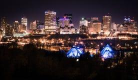 Stad av Edmonton Fotografering för Bildbyråer