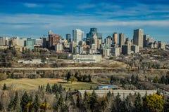 Stad av Edmonton, Oktober 2014 Fotografering för Bildbyråer