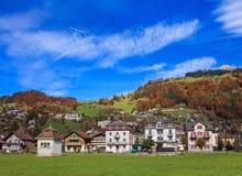 Stad av Engelberg i Schweiz Royaltyfri Bild
