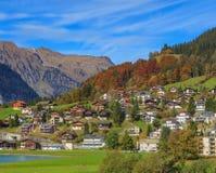 Stad av Engelberg i Schweiz Arkivbild