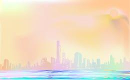 Stad av färger i sommaren Arkivfoto