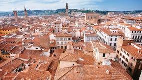Stad av Florence från Duomo royaltyfri bild