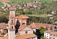 Stad av Foiano Royaltyfri Foto