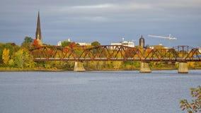 Stad av Fredericton, Kanada Royaltyfri Fotografi